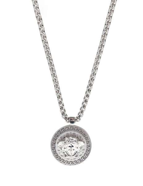 Versace Men's Rhodium Medusa Necklace DG14703-DMT1_D00K