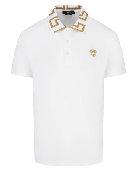 Versace Men's White Medusa Polo Shirt A87402-A231240_A1001