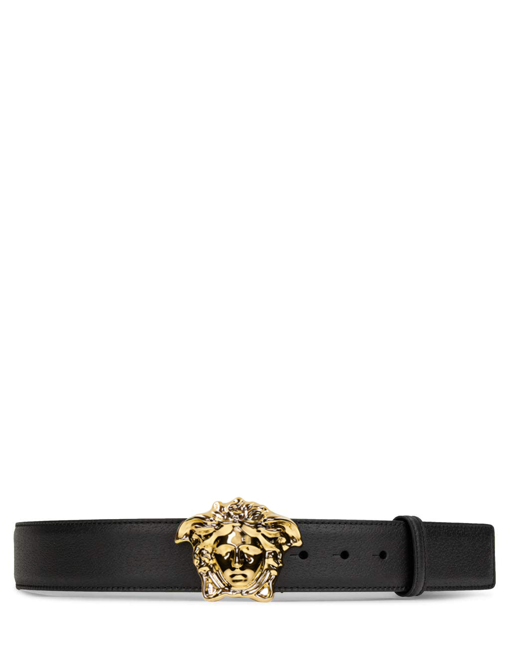 98cb816d87c Versace Men's Giulio Fashion Black Gold Medusa Buckle Palazzo Belt  DCU4140DGOV2D41OH