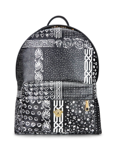 Versace Men's Giulio Fashion Black Paisley Medusa Backpack DFZ5350DVSA3DWNNH