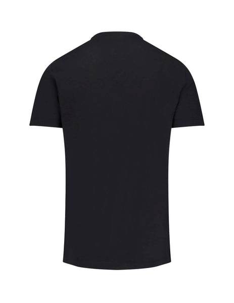 Versace Men's Giulio Fashion Black Printed Logo T-Shirt A83159A228806A008