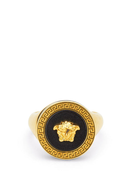 Versace Men's Giulio Fashion Gold Resin Medusa Ring DG57285DJMRK41T