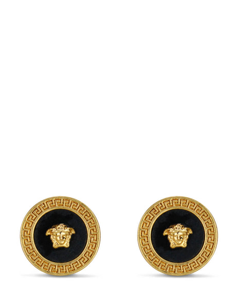 Men's Gold Versace Resin Medusa Stud Earrings DG27256-DJMR_K41T