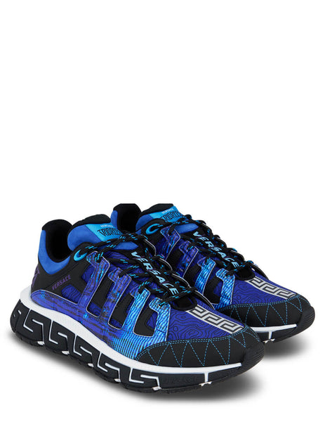 Men's Versace Trigreca Sneakers in Black/Royal Blue/Purple - DSU8094-D17TCG_6X150