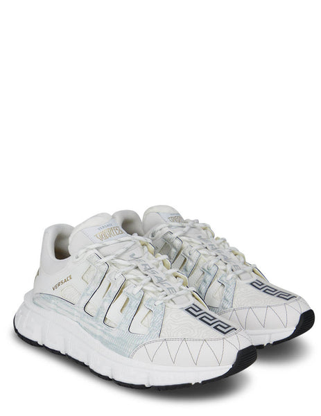 Men's Versace Trigreca Sneakers in White/Gold - DSU8094-D18TCG_D0191