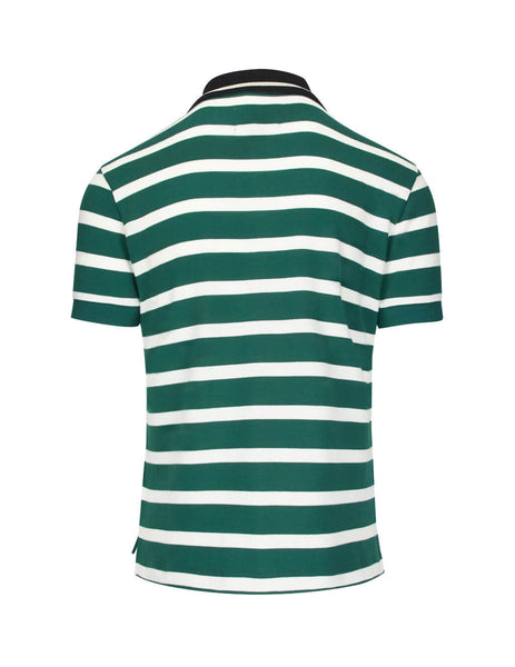 Vivienne Westwood Men's Giulio Fashion Green/White Striped Polo Shirt S25GL0022S23492001F