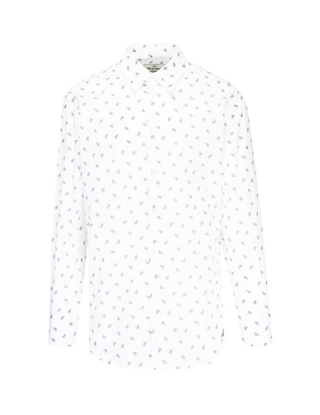 Vivienne Westwood Men's Giulio Fashion White Flowers Shirt S25DL0457S52105001S