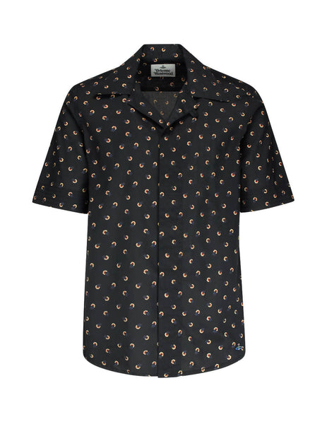 Vivienne Westwood Men's Giulio Fashion Black Flowers Shirt S25DL0446S52105002S