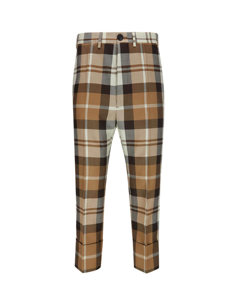 Vivienne Westwood Men's Giulio Fashion Camel Cropped George Trousers S25KA0625S52612001F