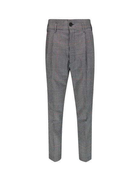 Vivienne Westwood Men's Giulio Fashion Grey George Trousers S25KA0626S52610001F