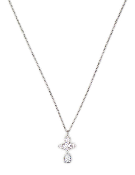 Women's Vivienne Westwood Ismene Drop Pendant Necklace in Silver - 6302030202W363W363