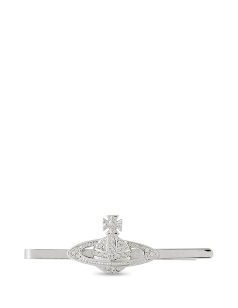 Men's Silver and Crystal Vivienne Westwood Mini Bas Relief Tie Clip 65050007W110W110