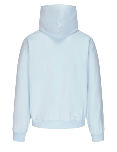 Men's Vivienne Westwood Multicolour Orb Hoodie in Light Blue - 3702002021692K403
