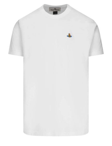 Men's Vivienne Westwood Multicolour Orb T-Shirt in White - 3701003521719A401