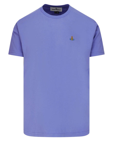 Men's Vivienne Westwood Multicolour Orb T-Shirt in Lilac Blue - 3701003521719K402