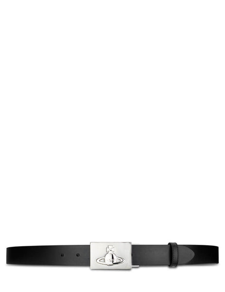 Vivienne Westwood Men's Giulio Fashion Black Orb Plate Belt 8201000140148WIN460