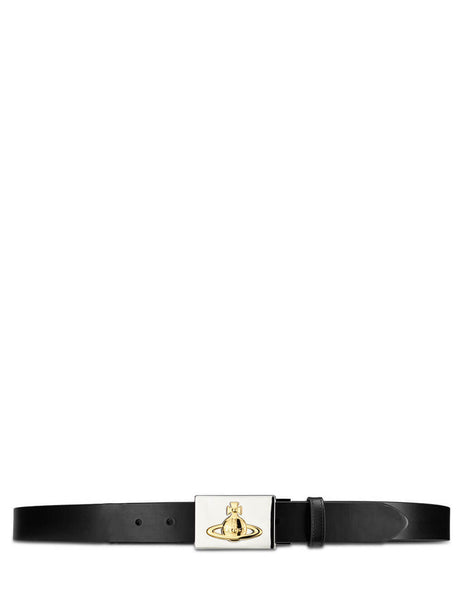 Vivienne Westwood Men's Giulio Fashion Black Orb Plate Belt 8201000240148WIN460