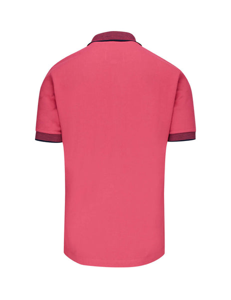 Vivienne Westwood Men's Giulio Fashion Pink Stripe Trim Polo Shirt S25GL0050S231420250