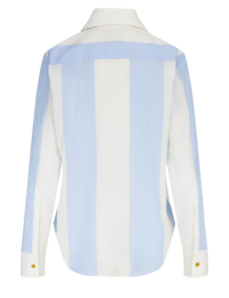 Women's Vivienne Westwood Pianist Shirt in Blue/White - 1501004311510O201