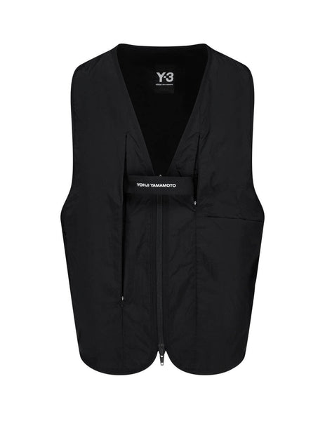 Men's Black Y-3 Travel Reversible Vest FN3499
