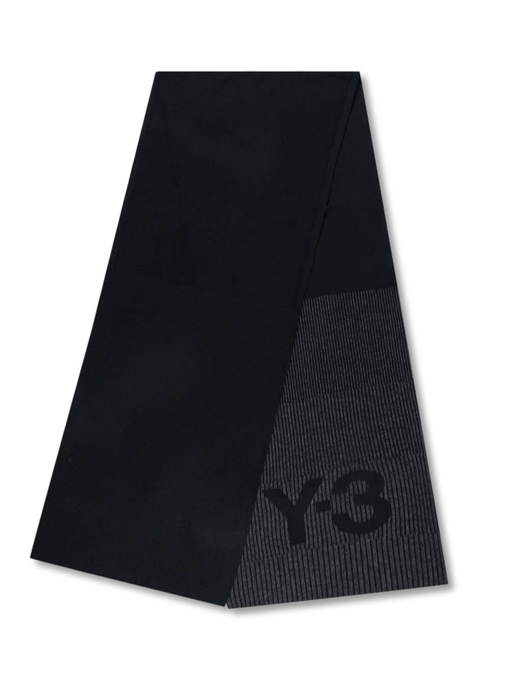Men's Y-3 Chapter One Reflective Scarf in Black. GK0637
