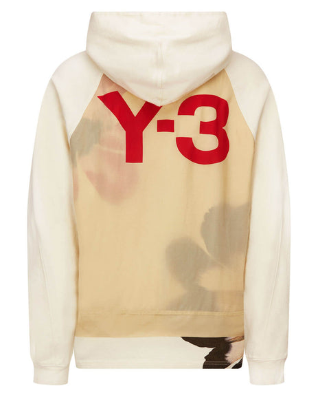 Men's Y-3 CH3 Raw Terry GFX Hoodie in Undyed - GV6090