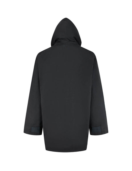 Y-3 Men's Giulio Fashion Black Mesh Hood Parka FN3410