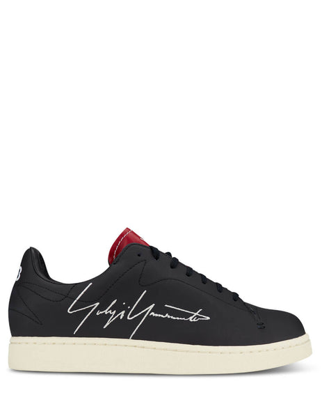 Men's Black/Red/Cloud White Y-3 Yohji Court Sneakers FU9190