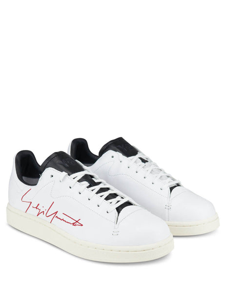 Men's Cloud White/Red/Black Y-3 Yohji Court Sneakers FU9189