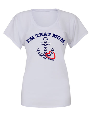 I'm That Mom -  USCG - United States Coast Guard Tee