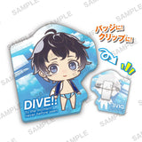 (PO) DIVE! Clear Clip Badge (1)