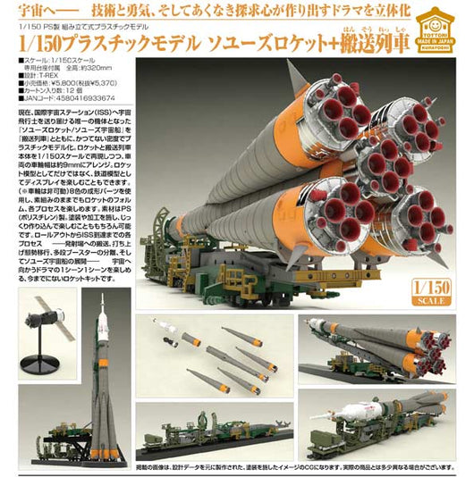 (PO) 1/150 Plastic Model Soyuz Rocket & Transport Train (5)
