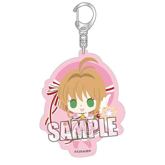 chipicco Cardcaptor Sakura: Clear Card Arc Acrylic Key Chain - Sakura Ribbon Ver.