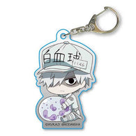Cells at Work! GyuGyutto Acrylic Key Chain - White Blood Cell (Neutrophil)