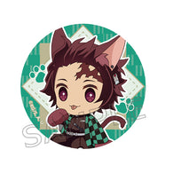Demon Slayer: Kimetsu no Yaiba Nyaforme Button Badge - Kamado Tanjiro