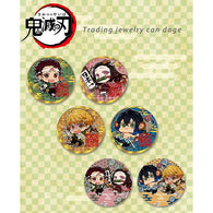 Demon Slayer: Kimetsu no Yaiba Trading Jewelry Can Badge Busting Ogres Ver.