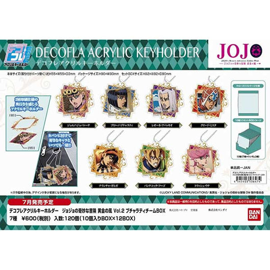 DECOFLA Acrylic Key Chain JoJo's Bizarre Adventure Golden Wind