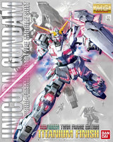 MG Unicorn Gundam (Red/Green Frame Twin Frame Edition) Titanium Finish