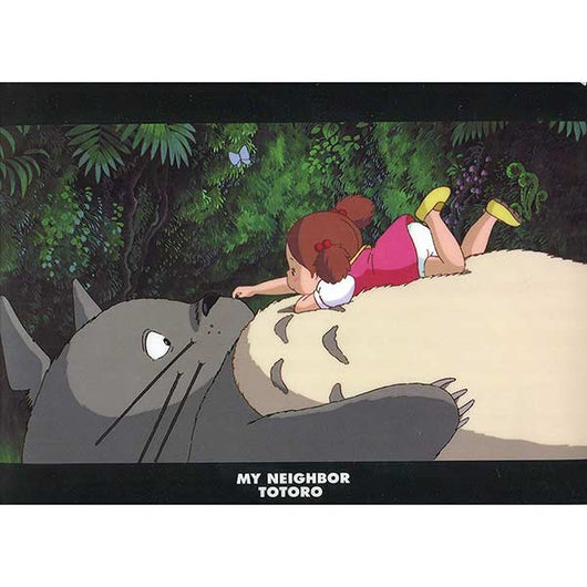 My Neighbor Totoro A4 Clear File - On Totoro's tummy