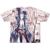 Hatsune Miku Cherry Blossoms Double Sided Full Graphic T-shirt