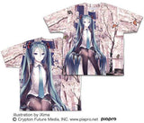 (PO) Hatsune Miku Cherry Blossoms Double Sided Full Graphic T-shirt (10)
