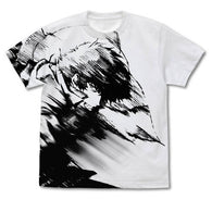 Cowboy Bebop Spike Spiegel All Print T-Shirt (White)