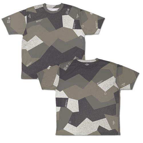 Mobile Suit Gundam Zeon Sprinter Camouflage Double Sided Full Graphic T-Shirt