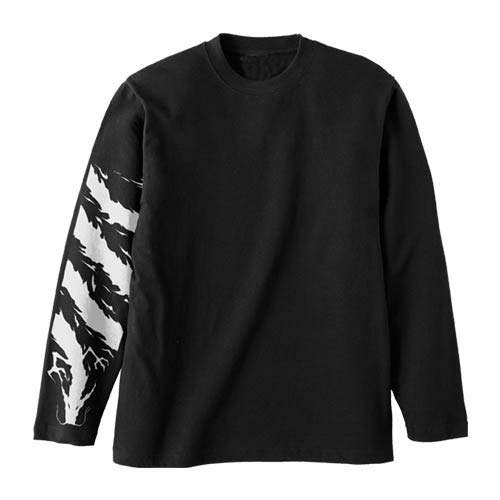 YuYuHakusho Hiei Black Dragon Long Sleeves T-Shirt (L size)