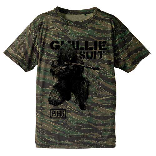 (PO) PlayerUnknown`s Battlegrounds PUBG Gullit Suit Camouflage Dry T-Shirt Tiger (8)