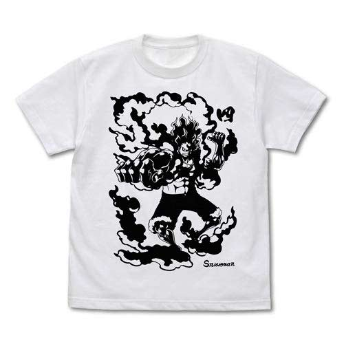 (PO) One Piece Luffy Snakeman (White) T-Shirt (10)