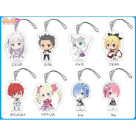 (PO) RE:Zero Starting Life in Another World Petitkko Trading Acrylic Strap (Re-issue) [BOX]