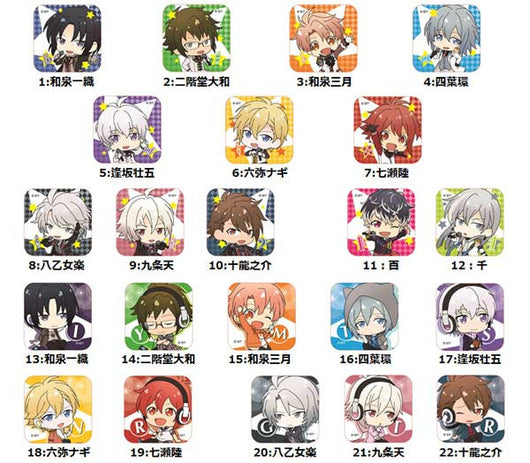 IDOLiSH7 Chara-Mu Trading Mini Square Can Badge