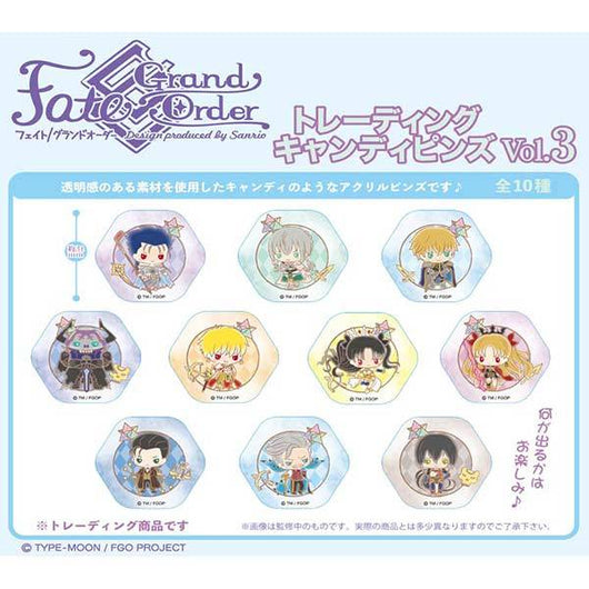 Fate/Grand Order Design produced by Sanrio Trading Candy Pins Vol. 3
