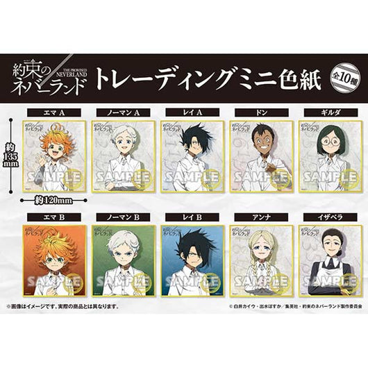 The Promised Neverland Trading Mini Shikishi (3)